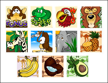 free Crazy Jungle slot game symbols