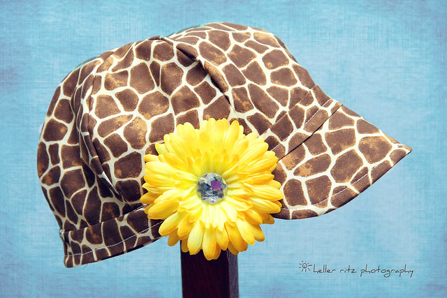 Giraffe Hat on Blue