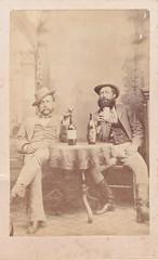 Gents Having a Drink (LJMcK) Tags: men vintage wine victorian drinking australia cigar belfast victoria cdv portfairy minogue