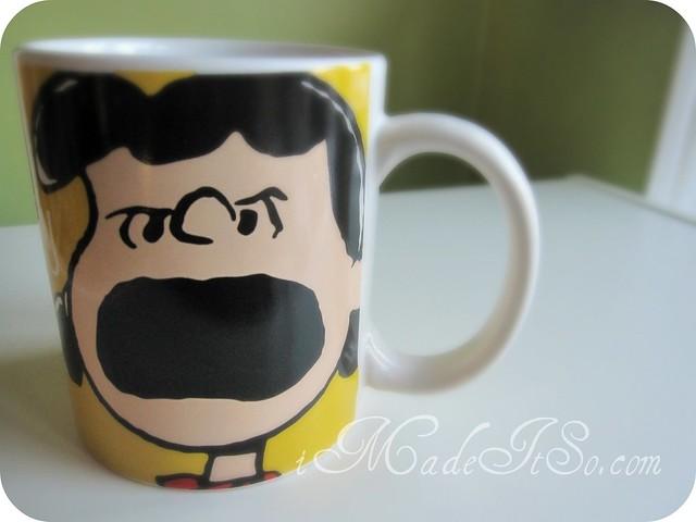 lucy peanuts coffee mug