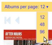 Albums per page