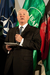 U.S. Defense Secretary Robert Gates visits ISAF Joint Command