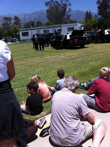 Watching the simulated arrest