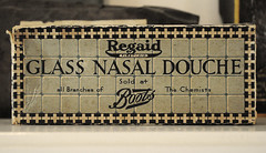 Glass Nasal Douche (Matthew-King) Tags: uk england glass hall king boots box britain matthew yorkshire north leeds packaging douche nasal lotherton chemists regaid