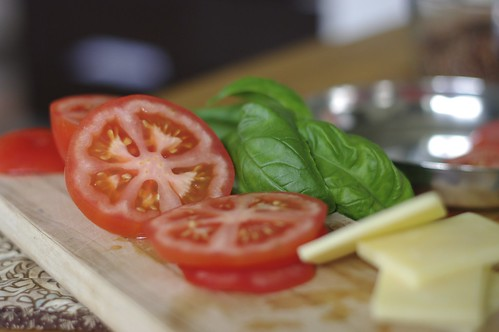 Tomato, Basil and Chedder