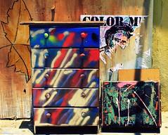 art on furniture (AtotheNA) Tags: ocean city summer hot streets art beach june hippies fun graffiti la warm adventure socal venicebeach spraypaint dresser weirdos awesomepeople