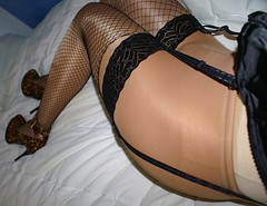 The verb fishnet hose shaved bound gagged