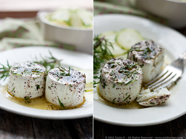 Marinated goat cheese and life alone! - Juls' Kitchen
