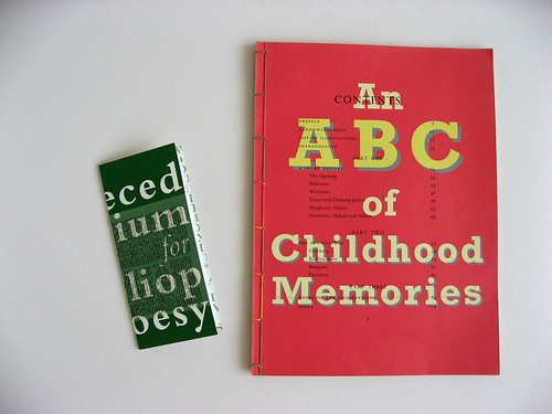 "ABC of Childhood and Abecedarium for Bibliopoesy 2007 • <a style=""font-size:0.8em;"" href=""http://www.flickr.com/photos/61714195@N00/5854020320/"" target=""_blank"">View on Flickr</a>"