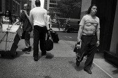 COOLED OFF (joewig) Tags: nyc people bw blackwhite interestingness spring streetphotography midtown ricohgrdigitaliii