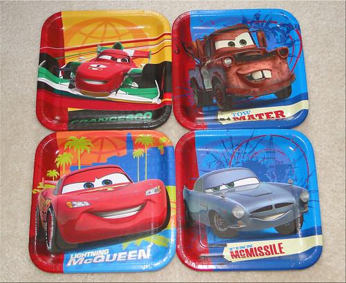 Cars 2 Dessert Plates