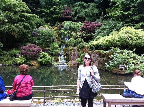 Emily in the Portland Japanese Garden