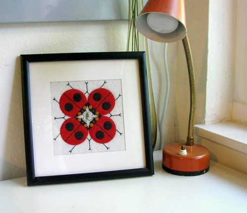 Charley Harper ladybugs in felt