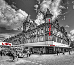 T.J.Hughes-2011 (Hazeldon73- catching up !) Tags: white black building shop liverpool mono store close thomas pop 1912 department hdr tj colouring hughes closure selective wow1 mygearandme ringexcellence