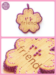 "Braille Pendant ""Friends"""