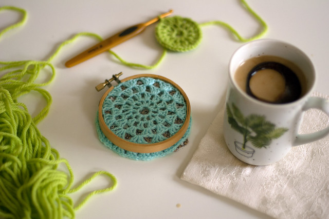 crochet + iced coffee