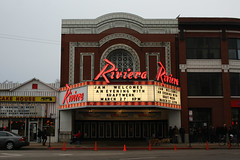 We Are The Robots [Explored 3/27/14] (Flint Foto Factory) Tags: city light urban house chicago beer sign marquee restaurant march lawrence illinois spring concert theater flickr neon riviera theatre letters north broadway band diner line explore uptown numbers german queue signage pancake kraftwerk electronic coors racine 2014 explored