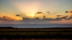 The sun peeking above the clouds (Caramel Kisses Photography) Tags: sun sunset clouds peeking glow ocean view landscape dusk hallettcove adelaide australia southaustralia canon meadow