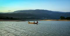 Bholaganj (Sajeeb75) Tags: landscape outdoor hill boat river sky black blue people serene water forest bangladesh