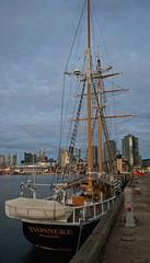Yvonneke (PhillMono) Tags: nikon dslr d7100 ship boat vessel australia melbourne victoria sail sailing tall schooner yvonneke stern dock harbour sunset yacht