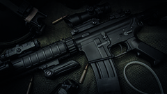 M4 Rifle (paradycedesign) Tags: magazine war gun soldier bullet rifle shooting shoot gear bullets airsoft m16 training swat handcuffs m4 self defense tactical ar15 ris m4a3 reddot stun grenade anpeq special weapons tactics tacgrip grip