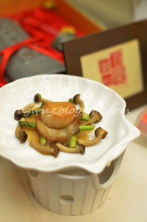 Braised Sliced Abalone and Scallop