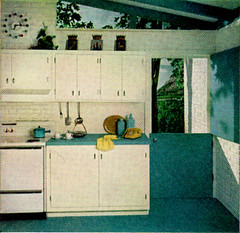Sherwin William Home Decorator 1959 (obsequies) Tags: blue white house home kitchen colors vintage magazine paint colours oven designer retro stove 1950s howto booklet decor 1959 decorator sherwinwilliams