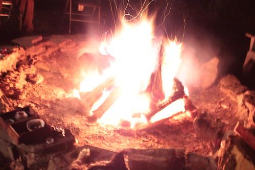 Intense fire