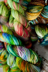 Green Strings YOTM CLUB!  Freedom Kettle dyes!