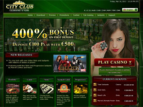 city club casino code