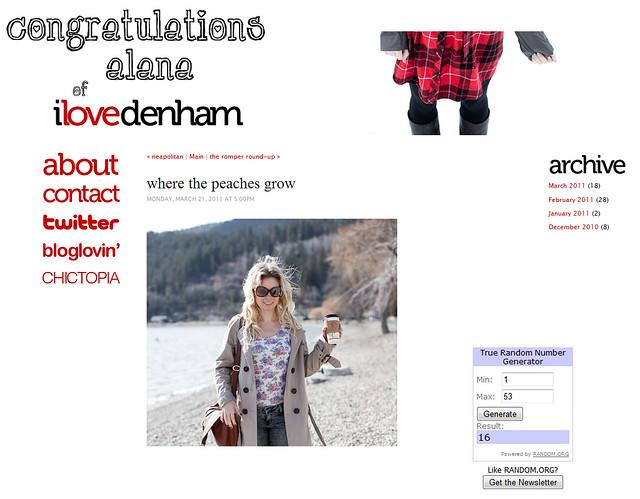 congrats i love denham