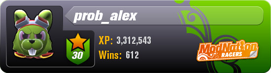 ModNation Racers Player profile: prob_alex