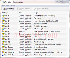 Window Hot Key Config