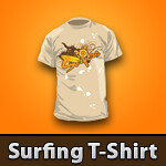 Vector Surfing T-Shirt Template