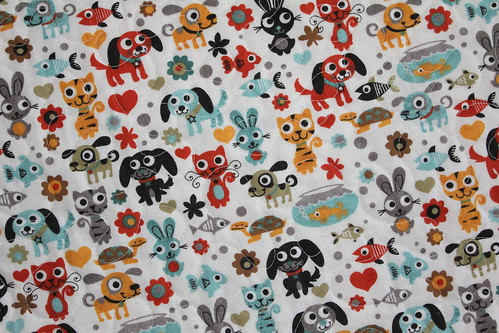 Max and Whiskers Baby Quilt Back