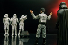 Laughing Up A Storm (JD Hancock) Tags: favorite trooper reflection fun toy actionfigure star starwars interesting funny action explore cc figure scifi stormtrooper wars portfolio darthvader 1k theotherside inkitchen jdhancock lifeonthedeathstar forcechokeme
