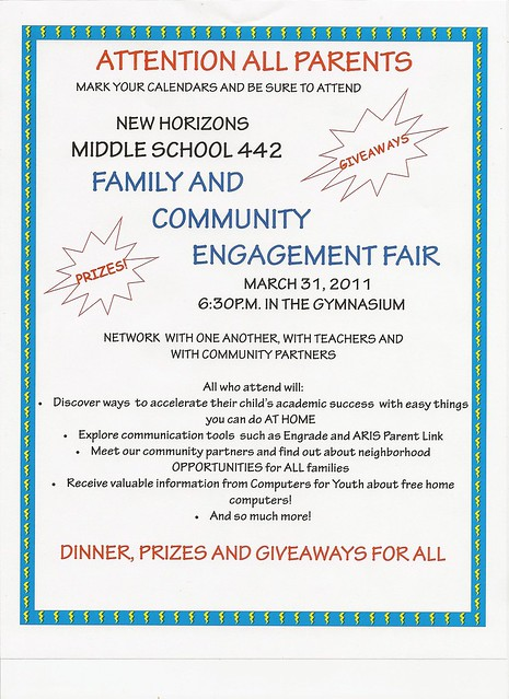 engagement fair flyer