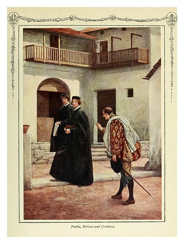 012-Porcia Nerida y Graciano-Shakespeare's comedy of the Merchant of Venice 1914- James D. Linton