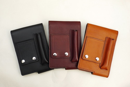 JBP Leather Shot Note Cover, Made by MASAGO