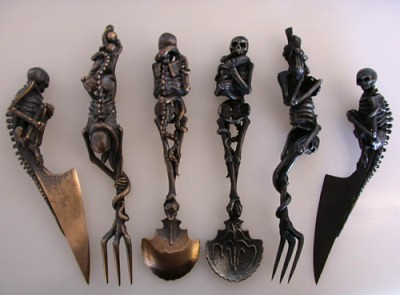 Skeleton Cutlery by Andre Lassen