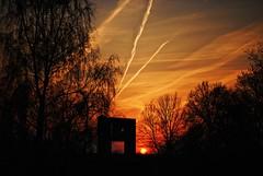 Time to say goodbye...... (gatza182) Tags: trip blue sunset red sky sun broken erasmus goodbye bye honigkamp