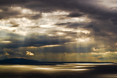 Sun vs Clouds - Lake Geneva, Switzerland (philippe julien) Tags: light sky sun sunlight lake clouds switzerland soleil suisse geneva lumire lausanne ciel nuages shores lman rayons cotes vaud