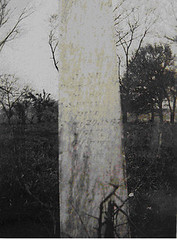 Jane Ruthven's gravestone in Houston