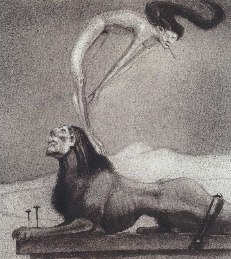 Alfred Kubin - Male Sphinx, 1901-03