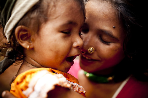 Woman and child in Nepal