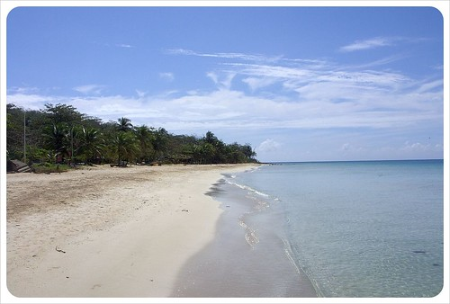 south beach on Big Corn Island