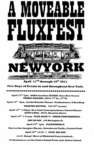 new york fluxfest poster from keith buchholz by jim leftwich