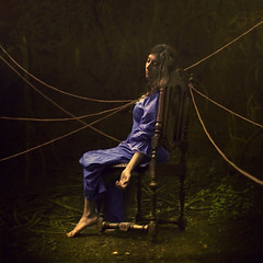 the hungry immortals (brookeshaden) Tags: texture nature les by forest chair woods feeding string hungry immortal lifeline lifeless brumes brookeshaden