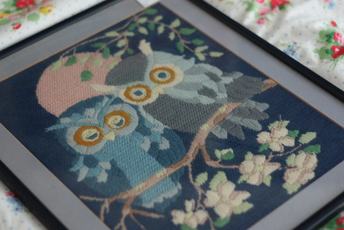 Owl Tapestry Thrift Find