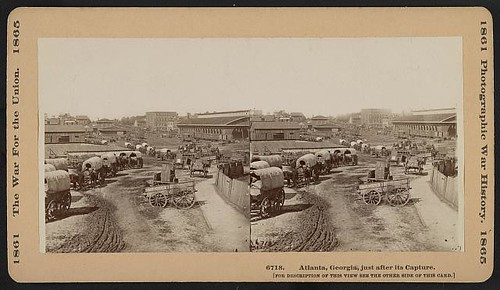 Atlanta, Georgia, just after its capture (LOC)